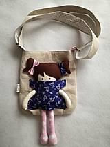 Kabelky - Kabelka s bábikou modro-ružová. - 8997088_