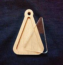 Polotovary - prívesky,kľúčenky (trojuholník) - 8998136_