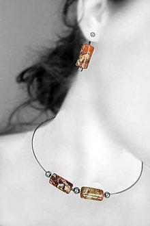 Sady šperkov - válečkové (Oranžová) - 8998516_