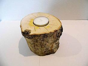 Svietidlá a sviečky - Svietnik drevený -breza - 8997726_