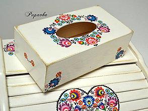 Krabičky - Folkový box na vreckovky - 8997902_