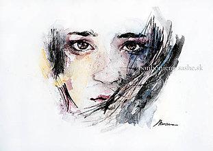 Obrazy - Portrét dievčiny/portrét na objednávku - 8996244_
