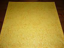 Úžitkový textil - Obrus žlto-oranžový 48x48 - 8998986_