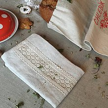Úžitkový textil - Kuchynská ľanová utierka - 8998447_
