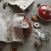 Úžitkový textil - Vrecúško na chlieb z hrubého ľanového plátna - 8998852_