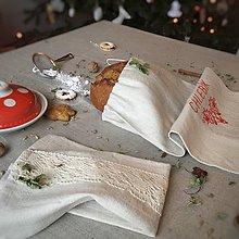 Úžitkový textil - Ľanové vrecko na chlieb a pečivo  (35x29) - 8998947_
