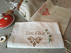 Úžitkový textil - Vrecúško na chlieb z ľanového plátna - 8999185_