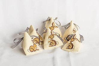 Úžitkový textil - Mini vrecúško Zajko - veľkonočné prekvapenie - 8998638_