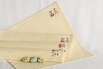 Úžitkový textil - Veselica - folk vyšívané prestieranie do chalupy - 8998678_