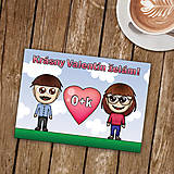 Papiernictvo - Personalizovaná valentínka - 8996785_