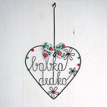 Dekorácie - srdce pre starých rodičov - 9000126_