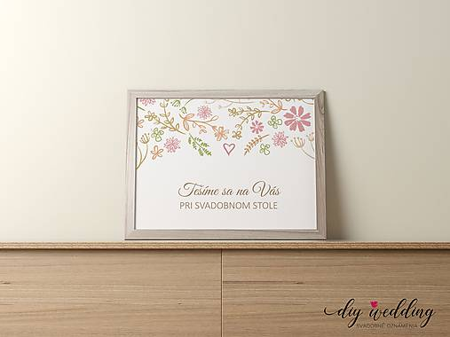 Pozvanie k svadobnému stolu Letná láska