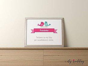 Papiernictvo - Pozvanie k svadobnému stolu Bude svadba - 9002156_