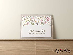 Papiernictvo - Pozvanie k svadobnému stolu Letná láska - 9002167_
