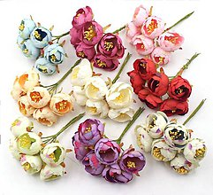 Iný materiál - 17. Textilné čajovníkové kvietky- 1 ks - 9003320_