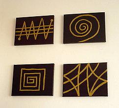 Obrazy - Zlatá geometria - sada - 9000422_