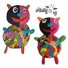 Hračky - Farebné prasiatko - hračka z detskej kresbičky - 9000499_