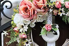 Dekorácie - Romantický venček - 9001414_