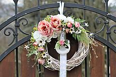 Dekorácie - Romantický venček - 9001416_