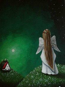 Obrazy - Maľovaný anjelik II - 8999636_