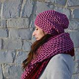 Čiapky - dámska čiapka MALINOVÁ - 9001479_