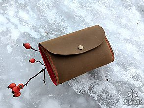 Peňaženky - Kožená peňaženka VIII. aj na veľké doklady - 9002992_