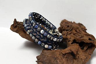 Šperky - Náramok sústredenia - sodalit - 9001658_