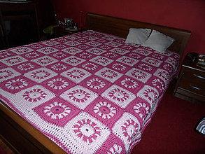 Úžitkový textil - veľká deka s veľkými kvetmi - na objednávku - 9000226_