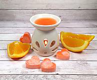 Svietidlá a sviečky - Pomarančový vonný vosk - 9003280_