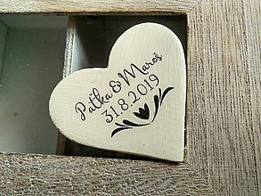 Darčeky pre svadobčanov - ivory svadobné magnetky s ornamentom - 9000691_