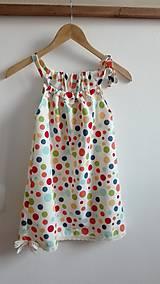 Letné bavlnené šaty pre (budúcu) školáčku