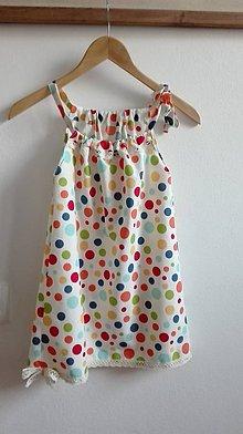 Detské oblečenie - Letné bavlnené šaty pre (budúcu) školáčku - 9001846_