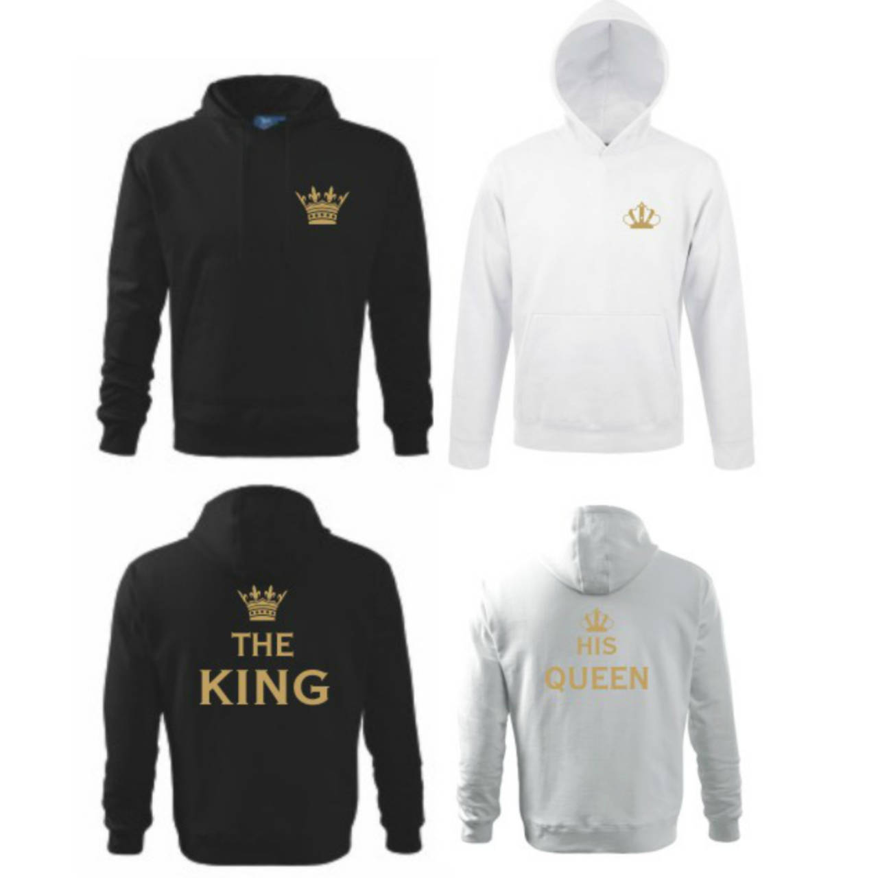 3981bb856d55 King a Queen - zaľúbené mikiny pre pár   trickoland - SAShE.sk ...
