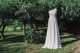 Šaty - Dlhé krajkové svadobné šaty - 9001601_