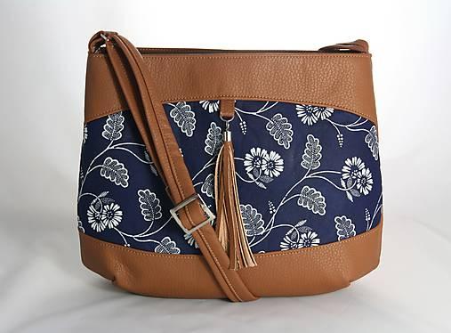 modrotlačová kabelka Rita hnedá 1