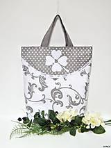 Nákupné tašky - Nákupná taška - biely štvorlístok - 9000486_