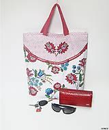 - Nákupná taška - folk  (s dlhými rúčkami) - 9000976_