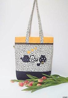 Nákupné tašky - Nákupná taška - zaľúbené mačičky 2 - 8999869_