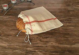 Úžitkový textil - Vidiecke ľanové vrecko na chlieb - 9001537_