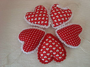 Dekorácie - Valentínske srdiečka ,v srdiečku a bodkách... - 9003070_