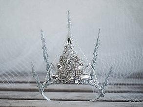 Ozdoby do vlasov - koruna pro ledovou královnu - 9001124_