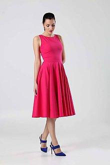 Šaty - Midi šaty tmavo ružové - 9004052_