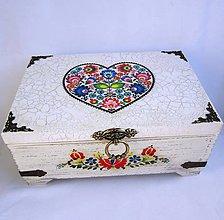 Krabičky - Truhlica so srdcom- s venovaním - 9005256_