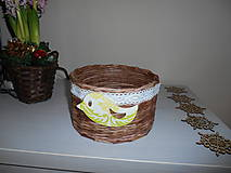 Košíky - Košík s vtáčikom - 9005544_