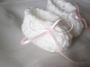 Topánočky - Babydream biele - 9005053_