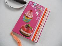 Papiernictvo - Mňam (vyšívaný receptár) - 9005604_
