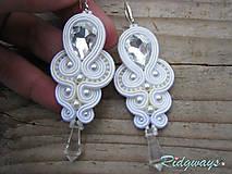 Náušnice - White/Ivory 2...soutache - 9004684_