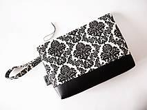 Toaletná taška veľká - čierny ornament
