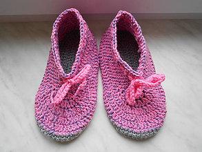 Topánočky - Detské papučky ružové - 9004173_