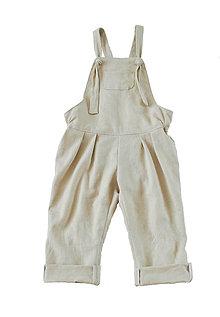 Detské oblečenie - Nohavice na traky prírodné - 9006265_